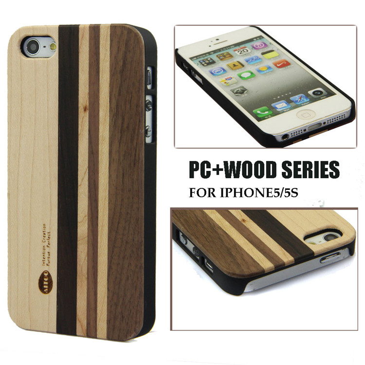 Bulk Buy From China Popular Mixed Wood Cases and Cover For iPhone 5s