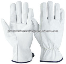 Driver / Work Gloves | Leather Truck Lorry Drivers Lined Work Gloves