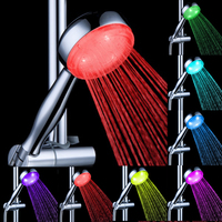 7 colors Multi-color gbr self-powered LED Shower Head LD8008-A18