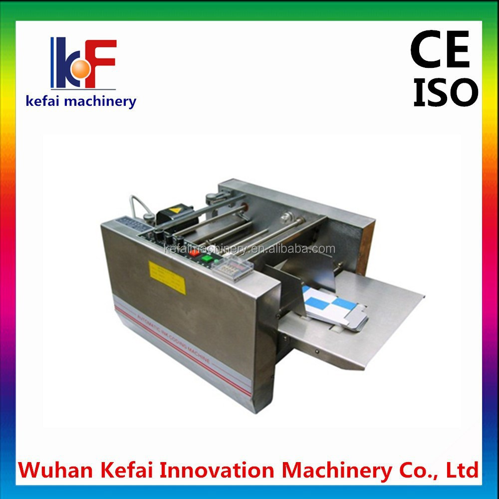Automatic Paging Carton Coding Embossing Machine