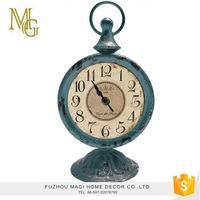 High quality creative home decoration antique decorative metal table clock