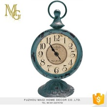 High quality creative home decoration antique decorative metal table clock
