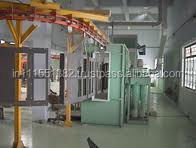 Manual powder coating unit spray booth and curing oven