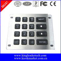 Rugged vandal proof illuminated 16keys metal numeric keypad