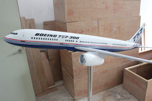 Education used 120CM polyresin Scale 1:35 Boeing big model plane with customer design for display