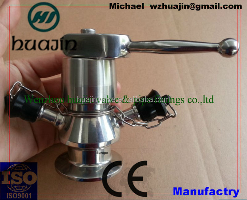 stainless steel sanitary threaded Aseptic sample valve