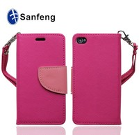 high quality PU+TPU leather case for apple iphone 4 4s