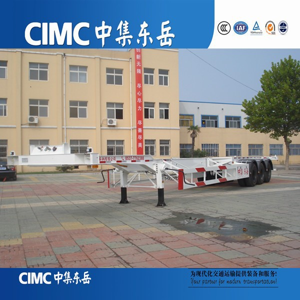CIMC 2015 Aluminum Light Duty Containers Transporting Skeleton Truck Trailer
