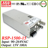 Meanwell RSP-1500-15 switching power supply 15v