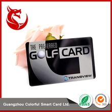 Hot selling frosted pvc plastic golf membership club card
