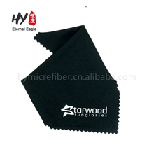 Custom logo printed suede chamois microfiber eyeglass glasses lens cleaning cloths