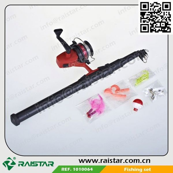 Telescope Fishing Rod Promotion With Fishing Reel And fishing with electric shock