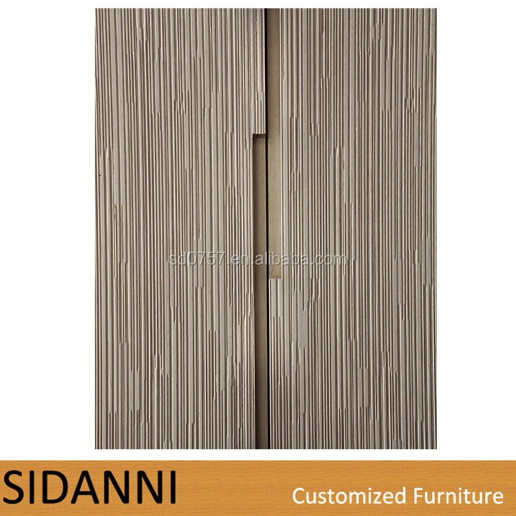 Small Size Plywood Veneer Finished Modern Bedroom Wardrobe Closet