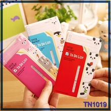 2015 New cute stick maker animal shaped sticky notes to do list sticky note dispenser