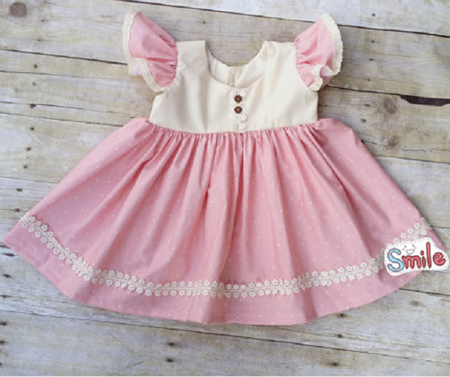 2017 new fashion lovely cute girl's dress sweety fashion dress children