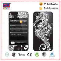 Metal Pattern PVC Mobile phone Skin Sticker for iphone