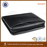 pu leather file folders / zipper expanding file folders / custom folders