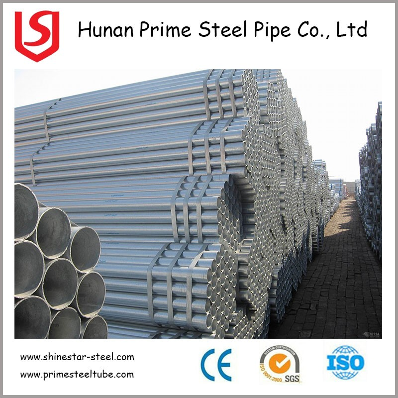 Q235 3 inch galvanized steel round tube , steel scaffolding G.I. pipe