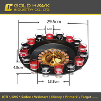 Wholesale 16 Shot Roulette Wheel Drinking Game Set