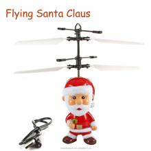 Flying Inductive Christmas Santa Claus RC Helicopter Gifts RC Drone For Kids Boys