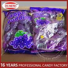 Hot selling gummy candy sweet grape pudding cup jelly in bag
