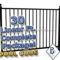 "30 ft Complete Pool Code Residential Aluminum Fence 54"" High Fencing Package"