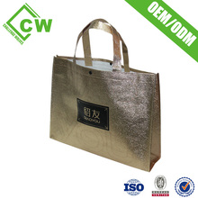 Custom Printed Standard Size Non Woven Foldable Polyester Personalized Shopping Bags With Full Colours