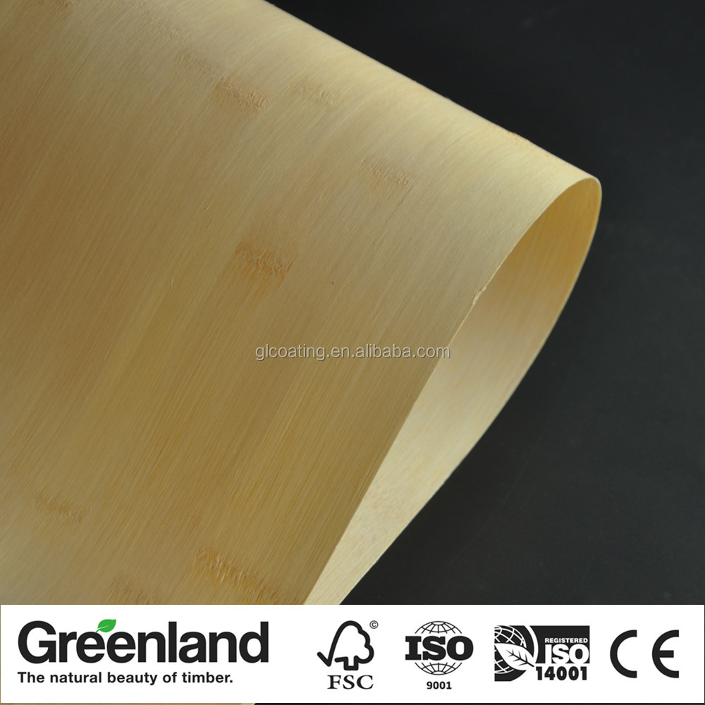 Natural Wood Horizontal Bamboo Veneer Sheets for Skateboards Longboards