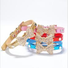 Hot Selling Serpentine Dog Collar With Bowknot