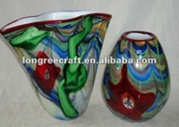 Mouth Blown Glass Decorative Mosaic Vase