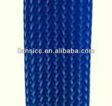 Dark blue electrical cable protection pet braided sleeving