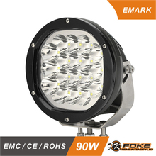 Round 7inch 90W led headlight spot/combo beam led driving light with E-mark