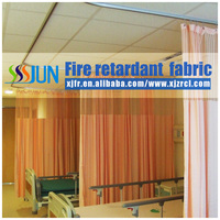 High-grade beautiful Medical partition curtain Permanent Flame retardant curtain fabric