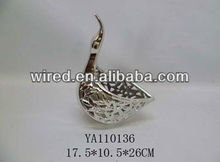 Hot selling decorative swan ceramics vase