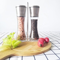 Premium Stainless Steel Pepper Mill Grinder Salt and Pepper Grinder Set