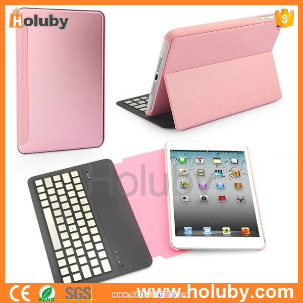 Wholesales High Quality Bluetooth Wireless Aluminum bluetooth keyboard for ipad mini 2 With PC Protective Shell