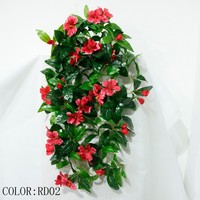 cheap wholesale long 80cm artificial fake hanging flower for sale