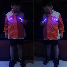 Sicherheit blinkende LED winter kinder jacke
