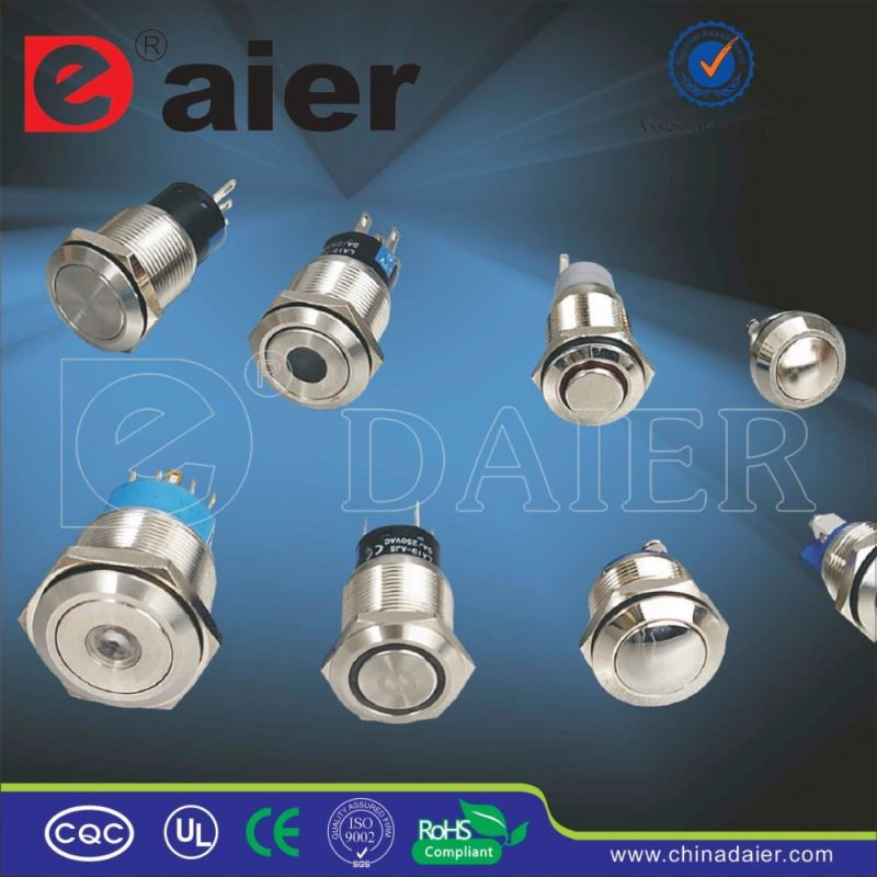 Daier stainless steel NO NC push button