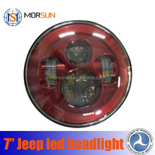 Wholesale Promotion angel eye led work light 7inch led head light for jeep wrangler accessories led headlight