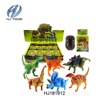 Wholesale funny 6 style mixed plastic dinosaur toys mini plastic toy animal for kids