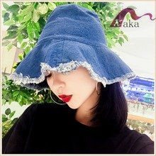 Manufactuer Sunny Shine wholesale jeans fashion folded cheap Panama straw hat for women
