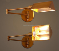 North Amenrica swing arm wall sconce wall light. wrought iron wall lamp, corridor restaurant industry