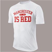 Fancy Letter Print T Shirt Men Cotton O-Neck Manchester 2017 Summer Fashion Casual MenT Shirts