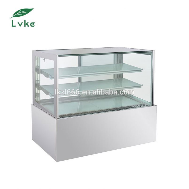Cheap marble display cake refrigerator showcase deli cooler showcase