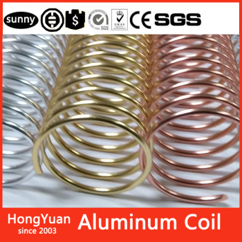Wire diameter 2mm any size Gold Anodized Aluminum Coil, Rose Gold Color Coated Aluminum Coil,New Binding Supply