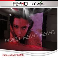 Hot sexy girl charming led video curtain display screen P3.5