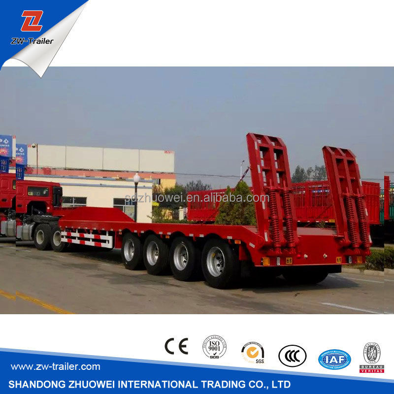 4 Axle Gooseneck Low Bed Semi Trailers for Forest and Oilfield Industries