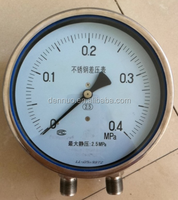 "4"" High quality all stainless steel gas water differential pressure gauge"
