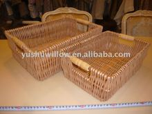 wicker storage plate